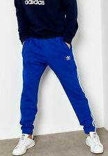 LG adidas Originals Men's Slim Fit  3 Stripes Tapered Track Pants  Blue  LAST1