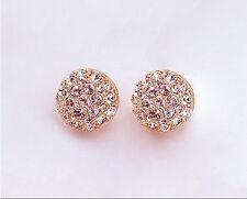 Fashion Women Lady Elegant circle Crystal Rhinestone Ear Stud Earrings beautiful
