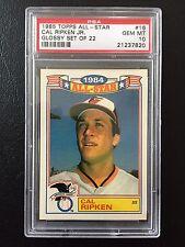POP 3! Cal Ripken 1985 Topps All-Star Glossy set 22; see my 1984 Topps TIFFANY!