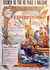 """20x30"""" CANVAS Decor.Room design art print..1895 Ville de Bordeaux France.6098"""