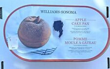 WILLIAMS-SONOMA Nordic Ware APPLE 5 Cup CAKE PAN 3-D Gold NEW ~ FREE SHIPPING!