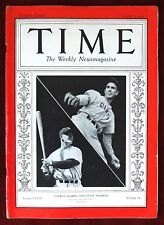 Time Magazine ~ October 5, 1936 ~ Yankee Gehrig and Giant Hubbell Robert Capa