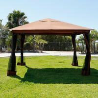 10 X 12 Regency Patio Canopy Gazebo Mosquito Net Netting Aluminum Steel