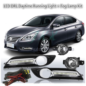 Bumper Fog Lamp&LED DRL Daytime Running Light For Nissan Sentra Sylphy 2013-2015