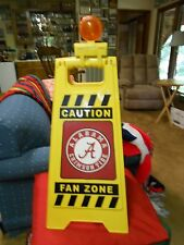 Great Collectable ALABAMA CRIMSON TIDE Wet Floor Sign CAUTION FAN ZONE with Lite