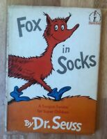 Fox in Socks HB/DJ Vintage Hardcover book 1st Edition 2nd state Vintage