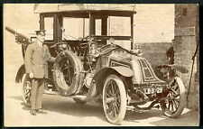 RENAULT 20/30 Limousine with Chauffer-Mecahnic. Superb photo-postcard c1905 RP