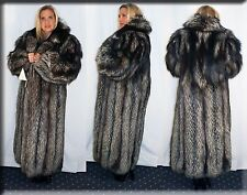New Silver Fox Fur Coat Size Medium 6 8 M Efurs4less