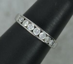 9 Carat White Gold and 0.50ct Diamond Half Eternity Stack Ring