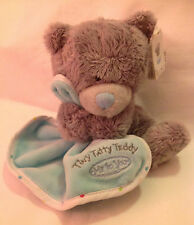 NEW ME TO YOU TINY TATTY TEDDY BEAR HOLDING MINT BLANKET SOFT IDEAL CHRISTMAS