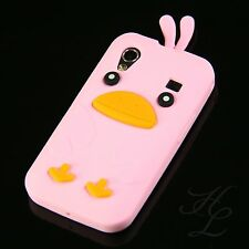 Samsung Galaxy Ace s5830i s5839i silicone Case Housse de protection Chicken Cover rose 3d