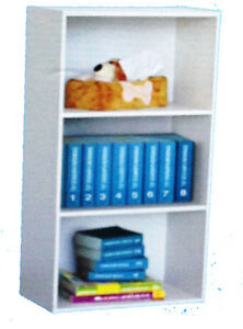 NEW Cheap White 3 Cube Shelf Bookcase Storage Unit  Display 890mmx414mmx290mm