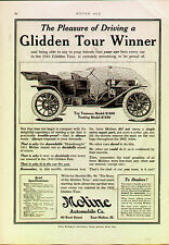 1911 MOLINE TOURING   ORIGINAL VINTAGE CAR AD