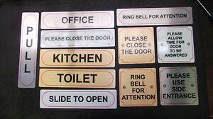 DOOR INFORMATION SIGNS, BUSINESS HOME OFFICE SHOP B&B