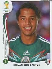 N°083 GIOVANI DOS SANTOS # MEXICO STICKER PANINI WORLD CUP BRAZIL 2014