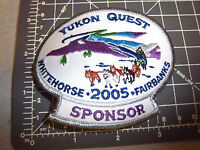 2005 Alaska Yukon Quest 1000 mile Dog Sled Race Embroidered Patch - sponsor