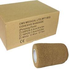 Full Box of 16 Premium Tan 7.5cm Coban Cohesive Bandage Athletic Support Tapes