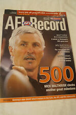 AFL Footy Record - 2005 - 500 - Mick Malthouse - Clocks Another Great Milestone
