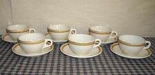 VNT Syracuse China Barclay Hotel New York Cups & Saucers Gold Encrusted 6 Sets