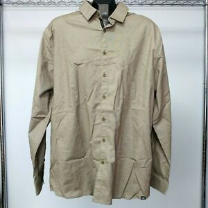 NEW! Adidas X Long Sleeve Woven Button-Up Shirt - Men's XL, Olive Carbon