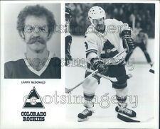 1980 Press Photo Hockey Player Lanny McDonald Colorado Rockies