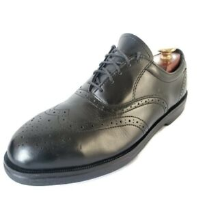RED WING Black Leather Steel Toe Oxfords Shoes Mens Size 8.5 EE  Extra Wide USA
