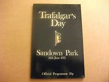 Sandown RACE CARD ~ 14TH GIUGNO 1975 ~ Trafalgar Day & QE2 Fillies PALETTI