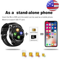 Bluetooth Smart Watch V8 Touch Screen 0.3MP Camera Fitness Tracker Wrist For iOS