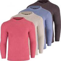 Mens Brave Soul Thick 'Chunky Cable Knit Jumper Pullover Winter Sweater Knitwear