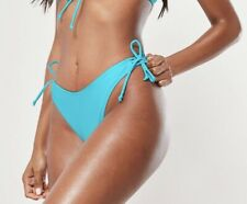New Missguided Tie Dye Plunge Swimsuit Blue//White SE36 Holiday Beach