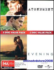ATONEMENT / EVENING - DOUBLE Romantic Drama Movie Pack (2 DVD SET) NEW SEALED