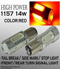 x2 1157 LED Plasma Xenon LED 14W RED Color Tail Brake Replace Halogen Bulbs D4