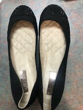 NIB Jessica Simpson Merrabeth Sparkle Toe Black Ballet Flats 7.5 New In Box