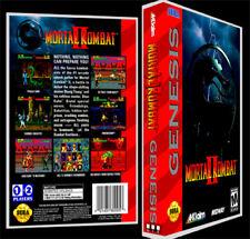 Mortal Kombat 2 - Sega Genesis Reproduction Art Case/Box No Game.