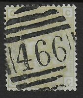 SG153. 4d.Sage Green Plate 16. Good Used With '466' Numeral=Liverpool. Ref.08100
