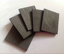 5pcs 99.99% Pure Graphite Electrode Rectangle Plate Sheet 50*40*3