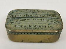 Allen & Hanbury's Vintage Blackcurrant Pastilles Tin (c)1950