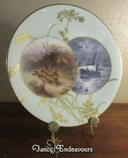 New listing Mintons Aesthetic Movement Hand Painted Plate Rabbit & Nautical Scenes