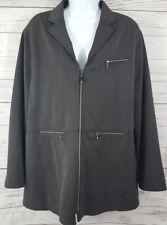 Mondi Sport Woman Sz 44 Gray Long Sleeve Modern Classic Career Casual Jacket