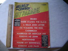 1954 Hillbilly and Cowboy Hit Parade Magazine. Words and Music. Whitman, Reeves,