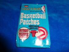 1974 Fleer Real Cloth Basketball Patches Wax Pack as Pictured