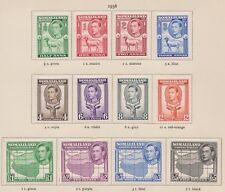 SOMALILAND 84-95 1938 Geo VI set complete mint