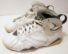 Nike Air Jordan Retro VII Orlando Magic Sz 9 White Blue Black 304775-161