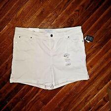 Celebrity Pink Size 16 Shorts Optic White Stretch Cuffed