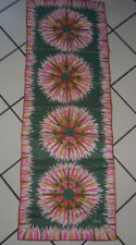Vtg Long VERA Neumann STAR BURST Hand Rolled Scarf  Pink/Green 14x44 in.