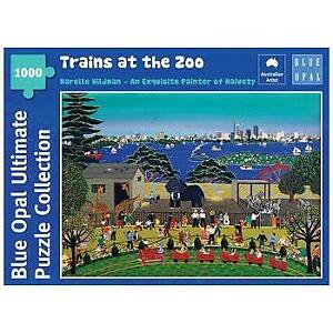 Narelle Wildman Trains at the Zoo 1000 Piece Jigsaw Puzzle