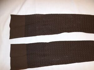 So Very Vogue Vtg 60s NEW Brown Textured Nylon Over the Knee Stockings Sz 9-11