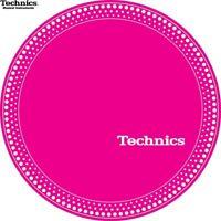 Technics 60664 Paar Antirutschmatte Strobo 1 Weiß Punkte/Pink Orginal/Brandneu
