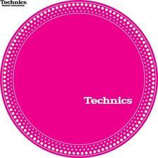 Technics 60664 PAIR Slipmat Strobe 1 White Dots/Pink Original / Brand New