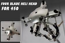 4 Blades Flybarless Conversion main Rotor Head for Trex 450 V2 V3 PRO RC heli